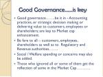 good governance is key