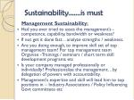 sustainability is must1