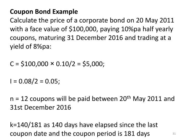 Coupon Bond Example