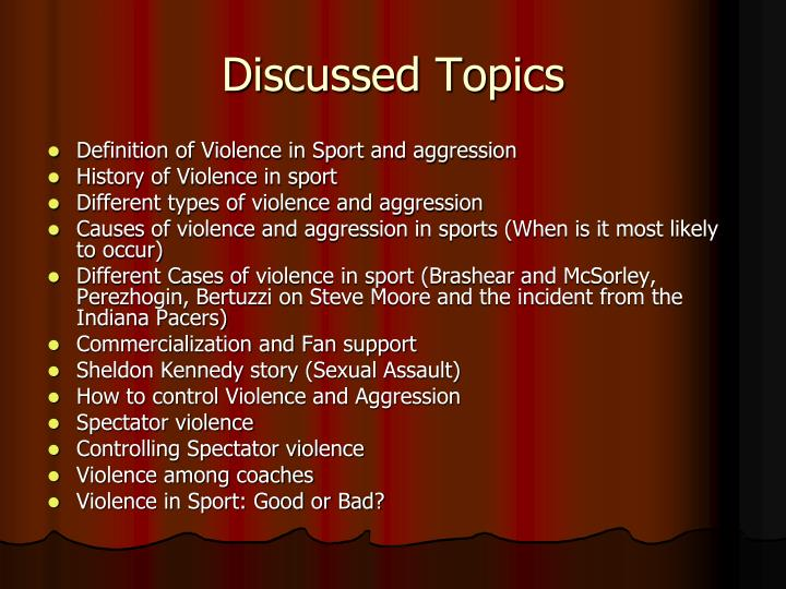 ppt - violence in sport powerpoint presentation