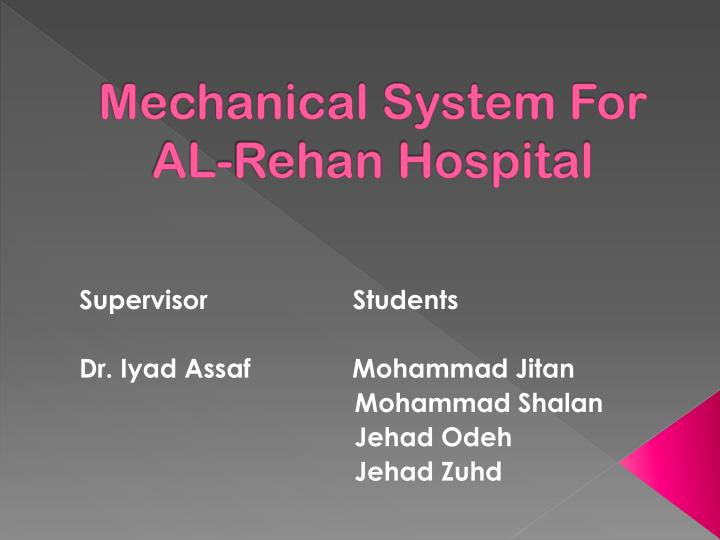 mechanical system for al rehan hospital n.