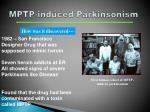 mptp induced parkinsonism