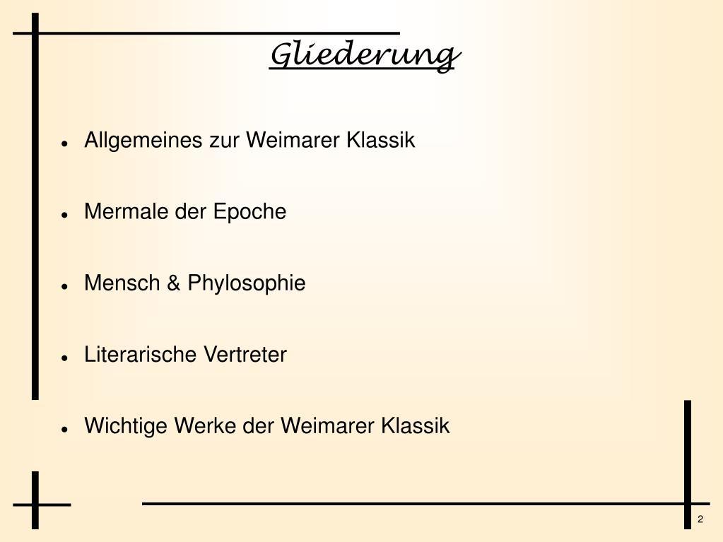 Epoche Der Klassik Merkmale Der Romantik In Der