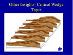 other insights critical wedge taper