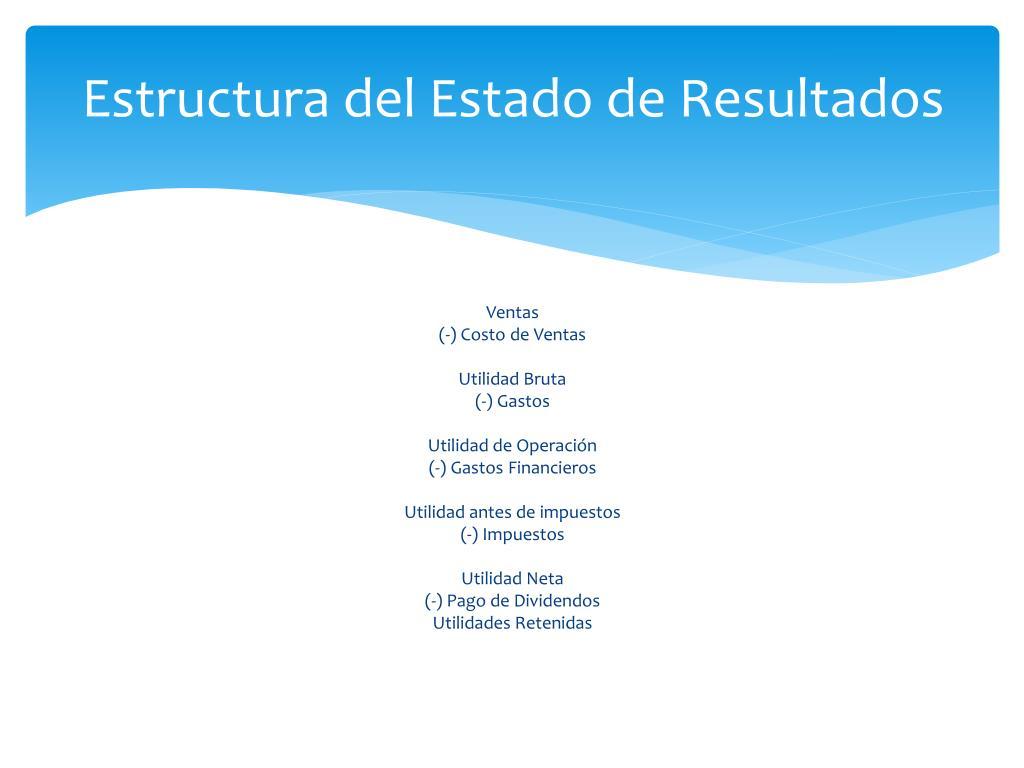 Ppt Estado De Resultados Powerpoint Presentation Free