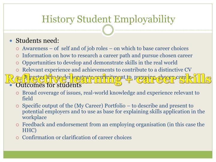 History Student Employability