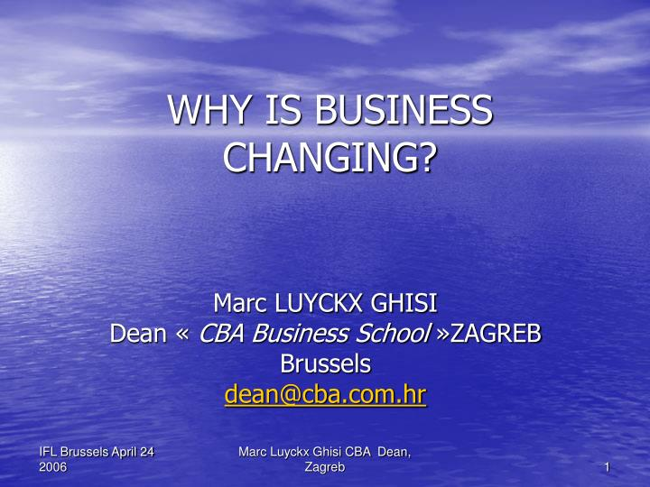 why is business changing n.