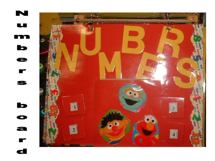 Numbers board