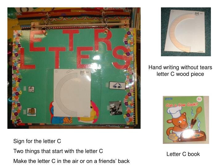 Hand writing without tears letter C wood piece