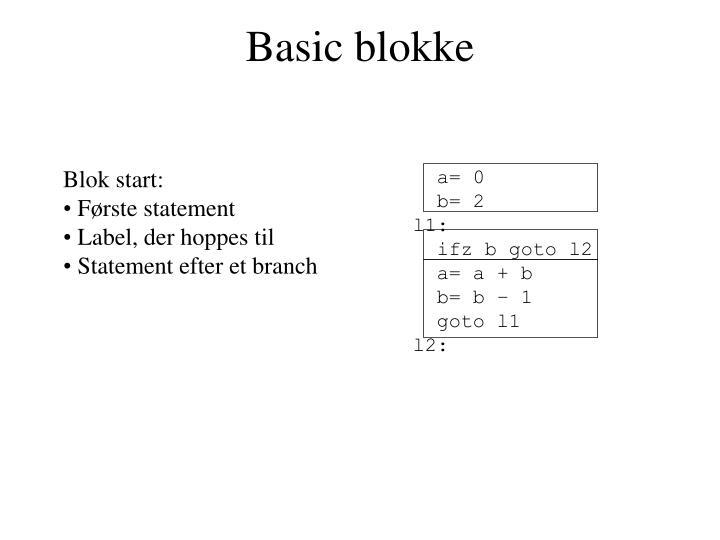 Basic blokke