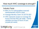 how much hhc coverage is enough