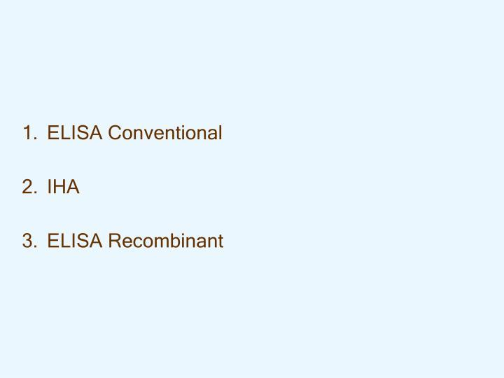 ELISA Conventional