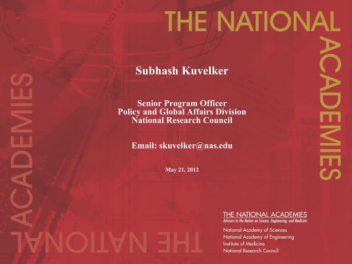 Subhash Kuvelker