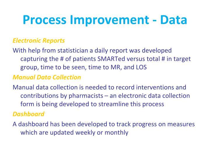 Process Improvement - Data