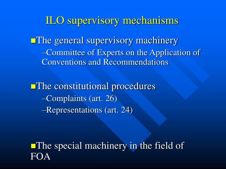 Ilo supervisory mechanisms