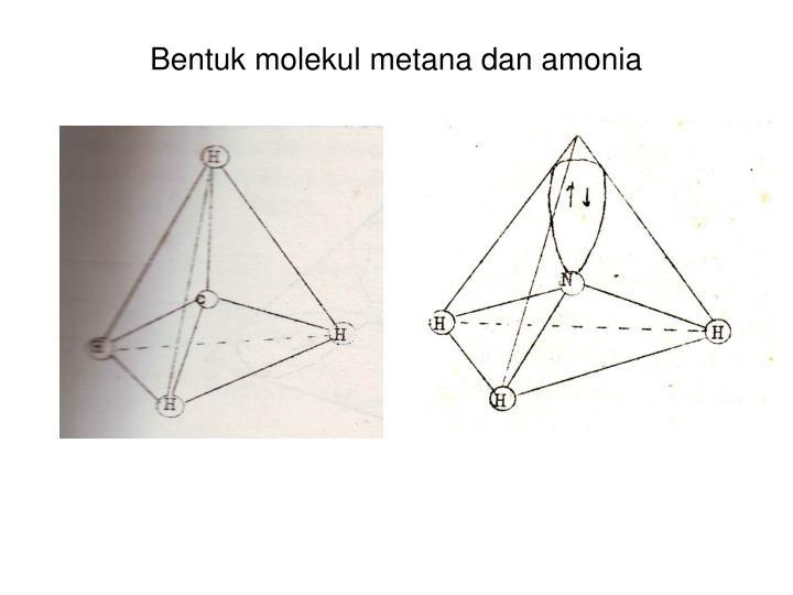 Bentuk molekul metana dan amonia