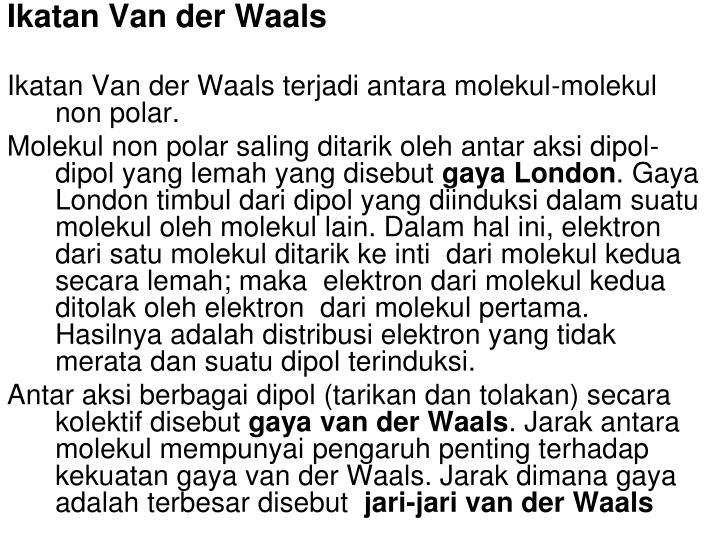 Ikatan Van der Waals