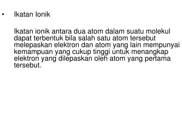 Ikatan Ionik