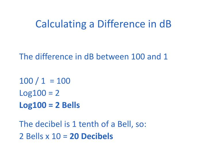 Calculating a Difference in dB