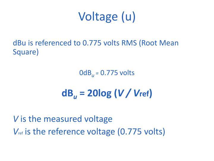 Voltage (u)