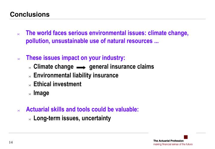 The world faces serious environmental issues: climate change, pollution, unsustainable use of natural resources ...