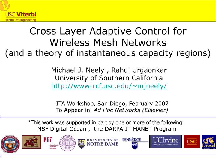 Cross Layer Adaptive Control for