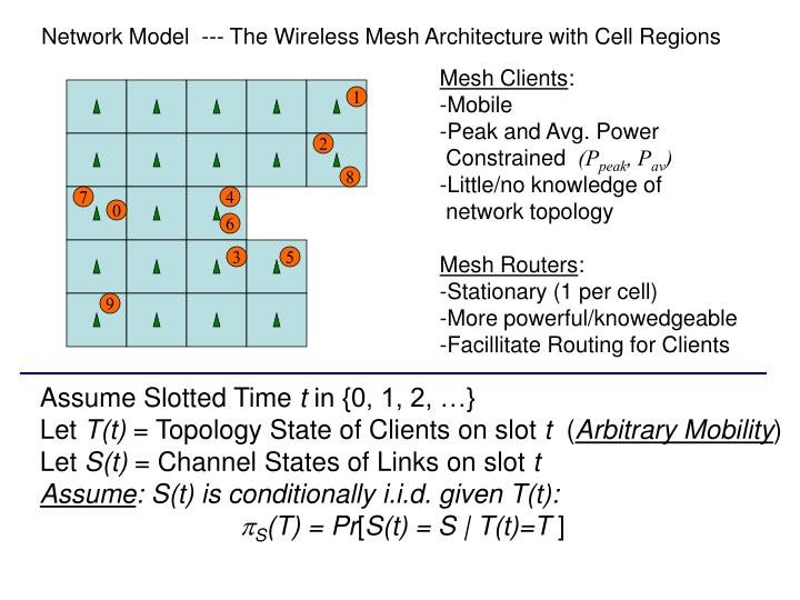 Network Model  --- The Wireless Mesh Architecture with Cell Regions