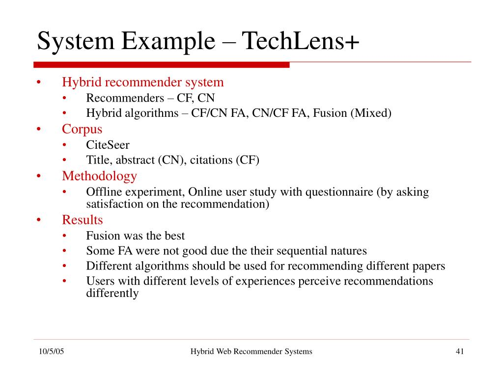 PPT - Hybrid Web Recommender Systems PowerPoint Presentation