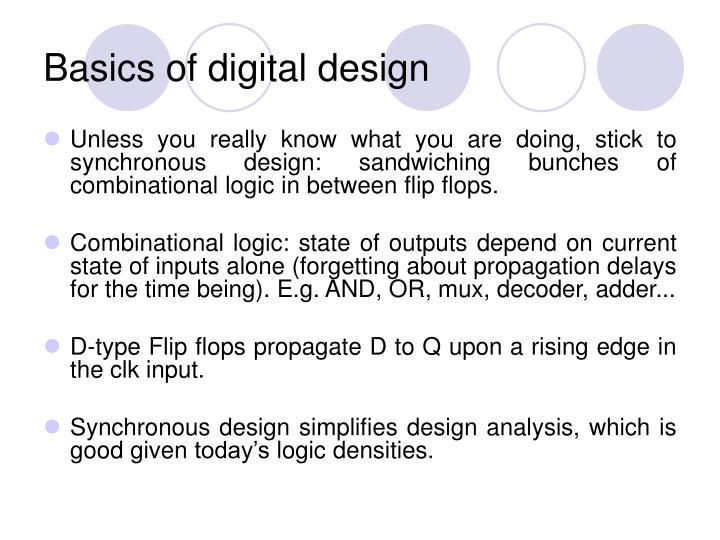 Basics of digital design