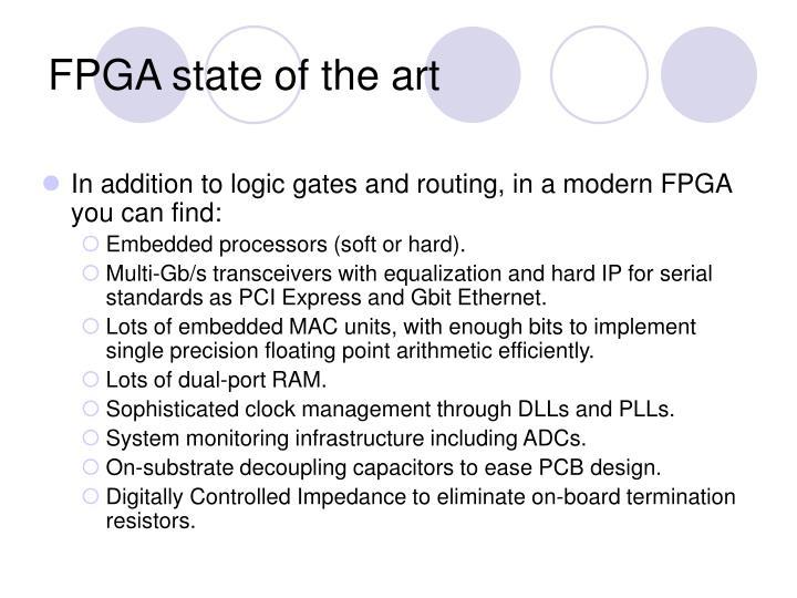 FPGA state of the art