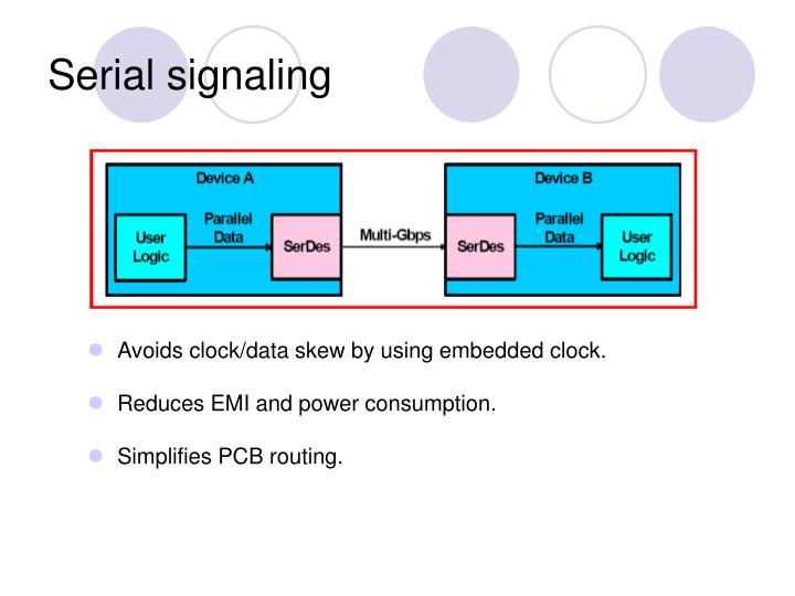 Serial signaling