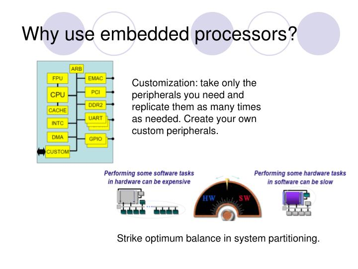 Why use embedded processors?