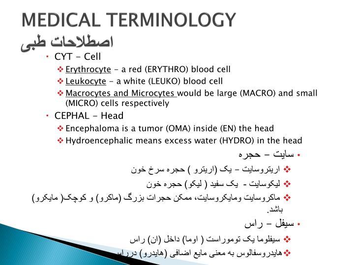 MEDICAL TERMINOLOGY