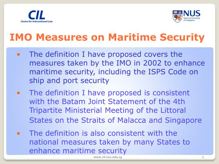 IMO Measures on Maritime Security