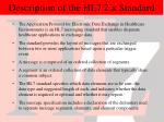 description of the hl7 2 x standard