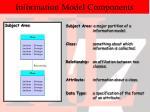 information model components