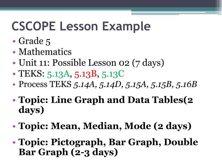 CSCOPE Lesson Example