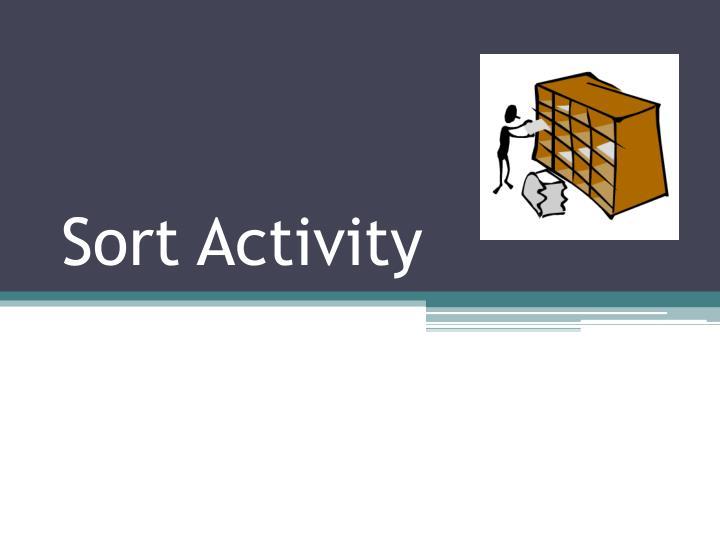 Sort Activity
