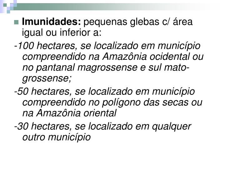 Imunidades: