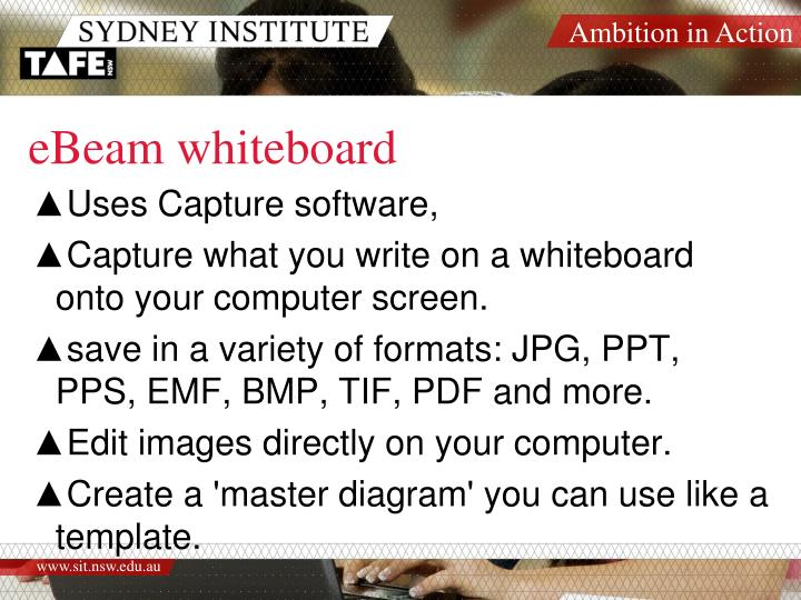 eBeam whiteboard