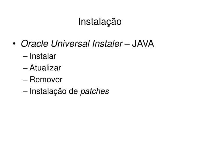 Oracle Universal Instaler