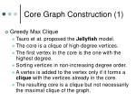 core graph construction 1