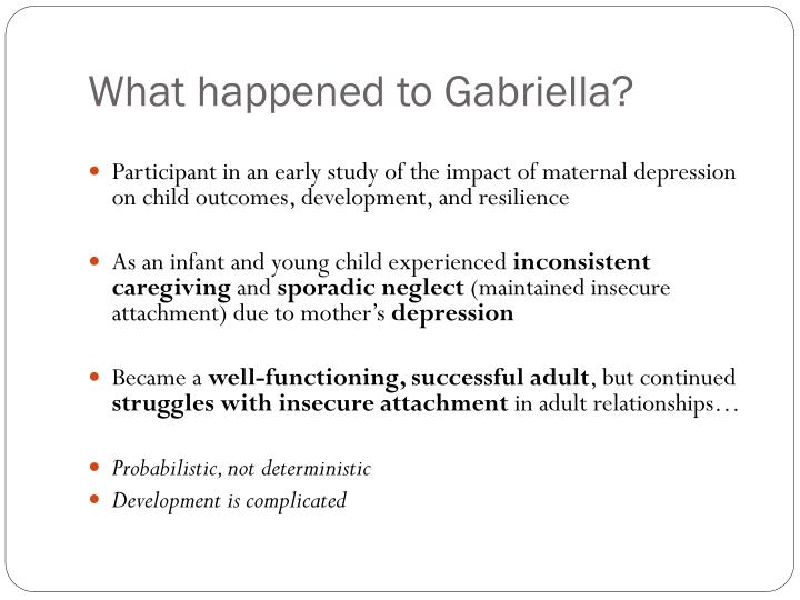 What happened to Gabriella?