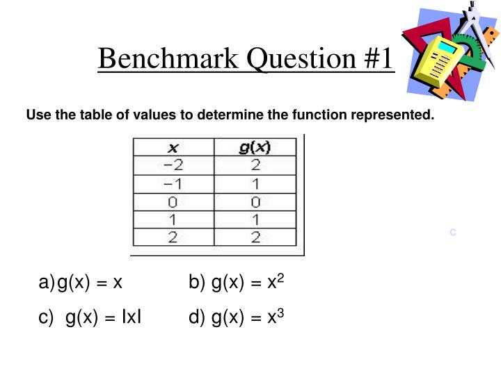 Benchmark question 1