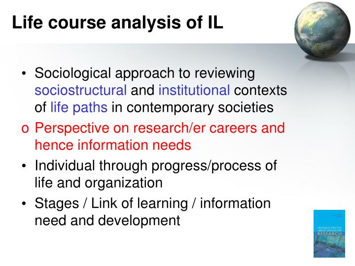 Life course analysis of IL