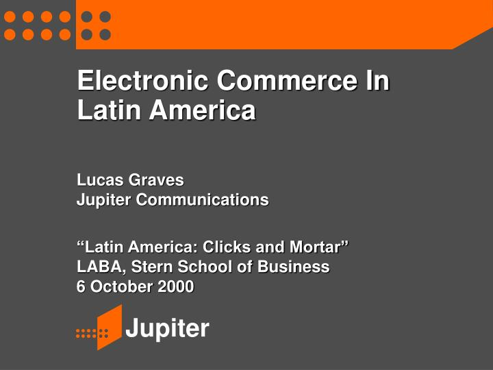 electronic commerce in latin america n.