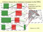 calanus finmarchicus dormancy dynamics in the nwa