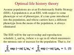 optimal life history theory