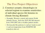 the five project objectives1