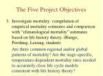 the five project objectives2